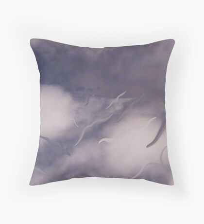 Angels come running Throw Pillow