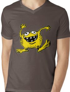 Cute Cartoon Yellow Monster by Cheerful Madness!! Mens V-Neck T-Shirt