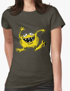 Cute Cartoon Yellow Monster by Cheerful Madness!! Womens Fitted T-Shirt