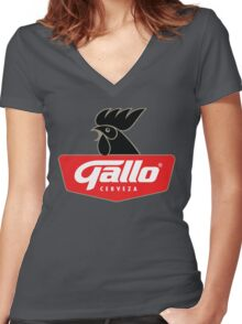 Gallo Cerveza - Best Beer In Guatemala Central America Women's Fitted V-Neck T-Shirt