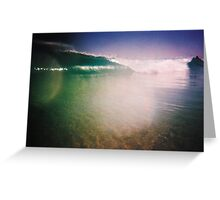 Surf Photo Three: The Tube Greeting Card