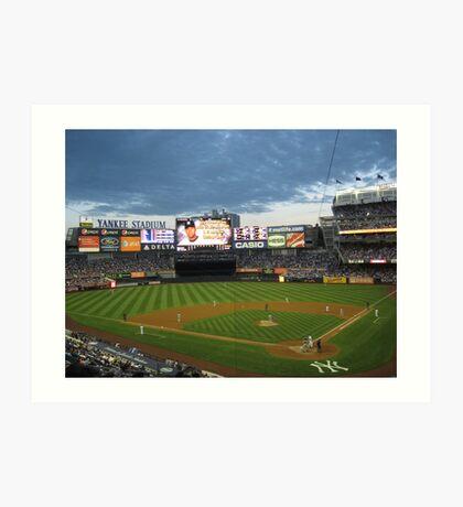 Yankee Stadium Subway Series Art Print
