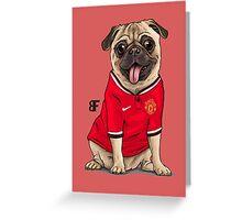 footy Pug Greeting Card