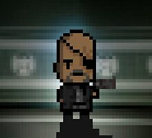 "Nick Fury ""Avengers"" Pixel Art by pixelkraft"