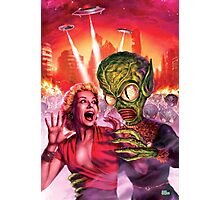 Space Alien Attack Photographic Print