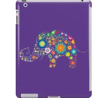 Elephant colorful Flowers iPad Case/Skin