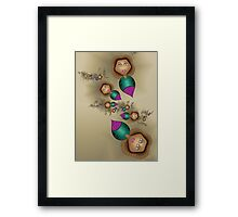 Chic Balloon Ladies in the Evening Framed Print