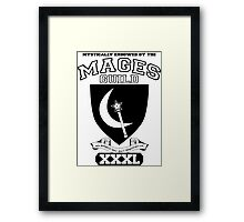 Xcrawl Mages Guild Framed Print