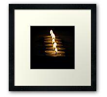 Row of lights. Framed Print
