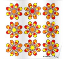 Fire Foot Flowers Poster