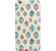 Floating Gems - a pattern of painted polygonal shapes iPhone Case/Skin