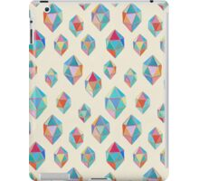 Floating Gems - a pattern of painted polygonal shapes iPad Case/Skin