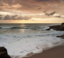 Dramatic sunset in Newquay by Francesco Carucci