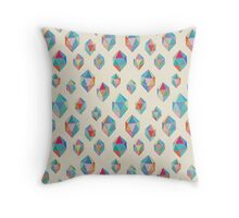 Floating Gems - a pattern of painted polygonal shapes Throw Pillow
