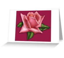 Watercolor rosebud Greeting Card