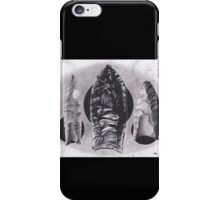 Realism Charcoal Drawing of Arrow Heads iPhone Case/Skin