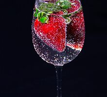 A Refreshing Glass Of Strawberries by daphsam