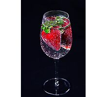 A Refreshing Glass Of Strawberries Photographic Print