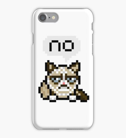 A Very Unhappy Pixel Kitty. iPhone Case/Skin