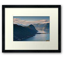 Monte San Salvatore and lake of Lugano Framed Print