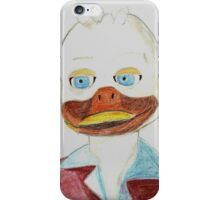 A portrait of Howard the Duck iPhone Case/Skin