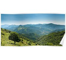 Scenic view from Monte Generoso Poster