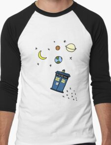 Little Tardis  Men's Baseball ¾ T-Shirt