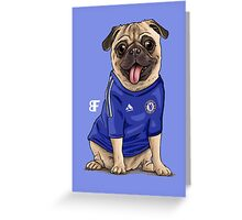 football Pug Greeting Card