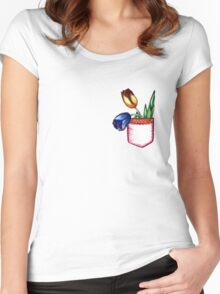 Pocket tulip Women's Fitted Scoop T-Shirt