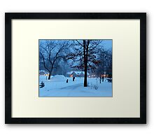 A winter evening. Framed Print