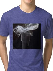 Smoke art abstract Tri-blend T-Shirt