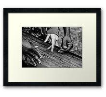 Helping hands Framed Print
