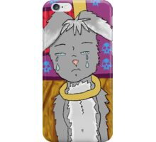 the sadness of a rabbit iPhone Case/Skin