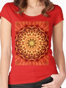 Beautiful flower center. Women's Fitted Scoop T-Shirt