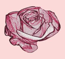 pink rose by faithie