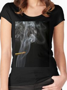 Painting Smoke. Women's Fitted Scoop T-Shirt