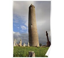 Round tower at Kilmacduagh Poster