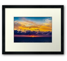 On the Caribbean Sea Framed Print