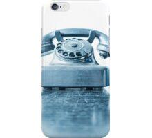 the blue telephone I iPhone Case/Skin