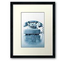 the blue telephone I Framed Print