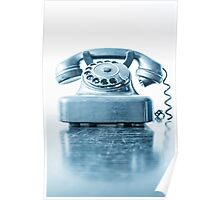 the blue telephone I Poster