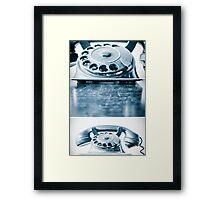 the blue telephone II Framed Print