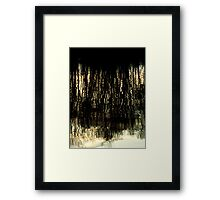 Sunset Tree Reflections Abstract Light Patterns Framed Print