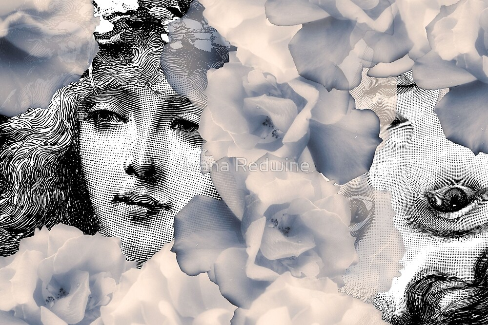 Composition With Faces and Flowers – February 17, 2010 by Ivana Redwine