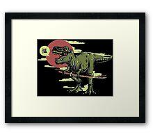 Ninja Dino Framed Print