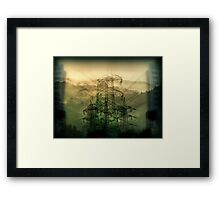 Now over these small hills they have built the concrete.... Framed Print