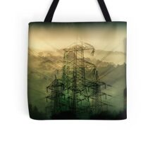 Now over these small hills they have built the concrete.... Tote Bag