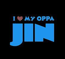 I HEART MY OPPA JIN - BLACK  by Kpop Love