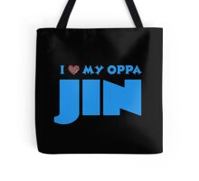 I HEART MY OPPA JIN - BLACK  Tote Bag