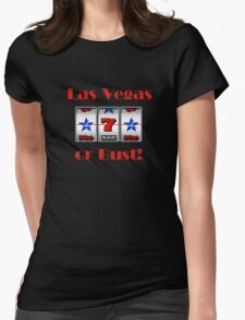 Slot Machines at Las Vegas Womens Fitted T-Shirt